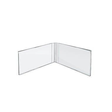 Azar Displays – Porte-affiches à cadre double en acrylique, 6 x 4 po, 10/paquet (107727)