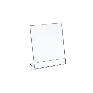 Azar Displays Vertical Slanted, L-Shape Acrylic Sign Holder, 10/Pack