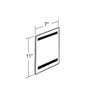 Azar Displays – Porte-affiche avec ruban magnétique, 7 larg. x 11 haut. po, 10/paquet (129919)