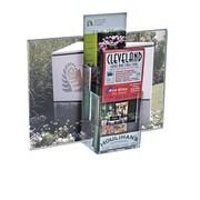 Azar Displays – Porte-affiche vertical en acrylique avec porte-brochure à 2 niveaux, 13 larg. x 8,5 haut. (po) 2/paquet (252059)