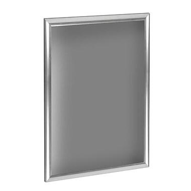 Azar Displays – Cadre 1 po Opti Snap vertical/horizontal, 11 x 17 (po) 10/paquet, argenté (300211-SLV)