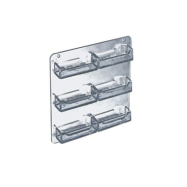 Azar Displays 6-Pocket Wall Mount Business Card Holder, 2/Pack (252221)