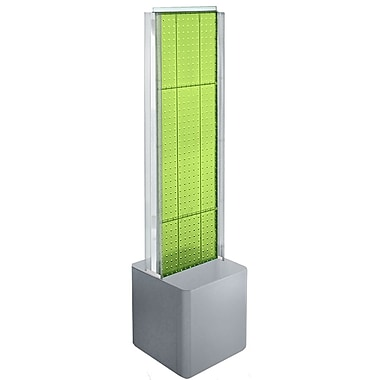 Azar Displays 2-Sided Pegboard Floor Display, C-Channels Floor Display, Studio Base, Green (700728-GRE)