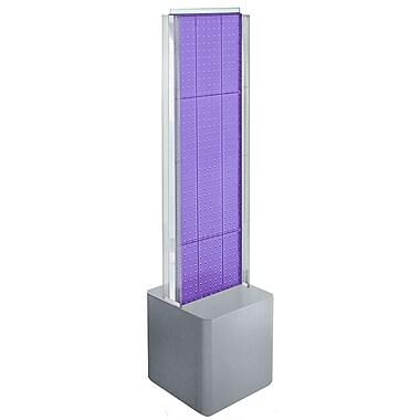 Azar Displays 2-Sided Pegboard Floor Display, C-Channels Floor Display, Studio Base, Purple (700728-PUR)