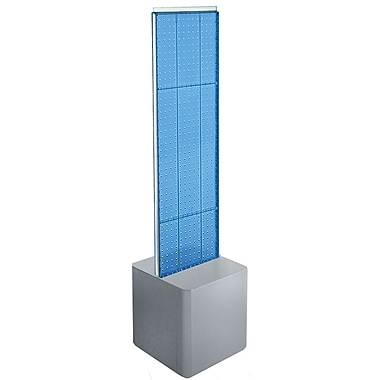 Azar Displays 2-Sided Pegboard Floor Display, Studio Base, Blue (700729-BLU)