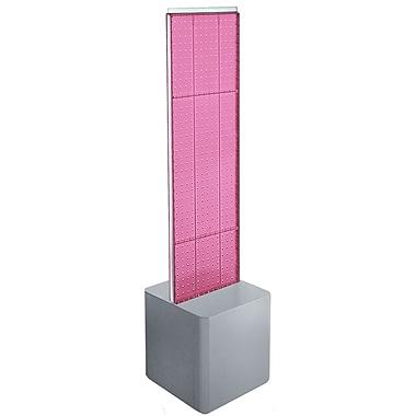 Azar Displays 2-Sided Pegboard Floor Display, Studio Base, Pink (700729-PNK)