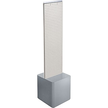 Azar Displays 2-Sided Pegboard Floor Display, Studio Base, White (700729-WHT)