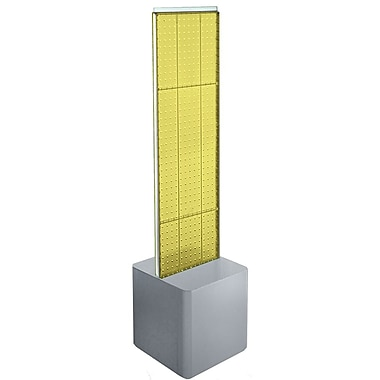 Azar Displays 2-Sided Pegboard Floor Display, Studio Base, Yellow (700729-YEL)