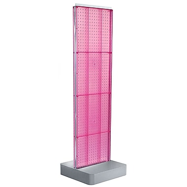 Azar Displays 4-Sided Pegboard Floor Display, Studio Base, Pink (700770-PNK)