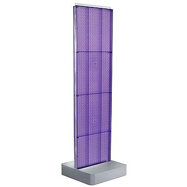 Azar Displays 4-Sided Pegboard Floor Display, Studio Base, Purple (700770-PUR)