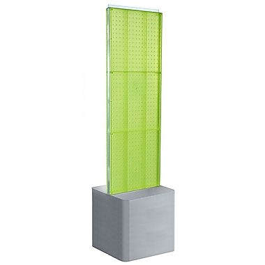 Azar Displays 2-Sided Pegboard Floor Display, Adjustable Studio Base, Green (700775-GRE)