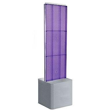 Azar Displays 2-Sided Pegboard Floor Display, Adjustable Studio Base, Purple (700775-PUR)