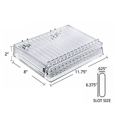 Azar Displays 15-Compartment Lipstick Tray with Spring Load, 2/Pack (225515)