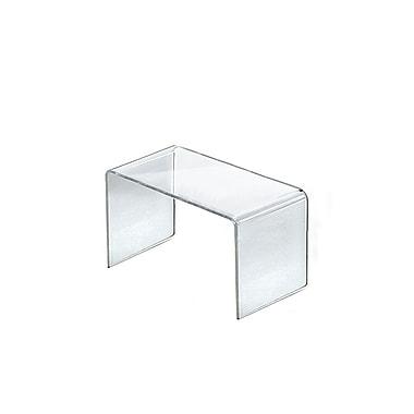 Azar Displays – Présentoir surélevé en acrylique, 8 x 4 x 4,5 po, 4/paquet (515336)