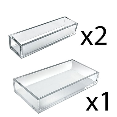 Azar Displays Deluxe Tray 3 Piece Set, Narrow Trays and Large Tray (556222)