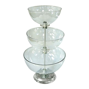 Azar Displays – Présentoir sur comptoir à bols de 3 niveaux de 10, 12 et 14 po (720304)