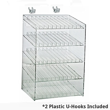 Azar Displays 5-Tiered 60 Compartment Cosmetic Counter Display for Pegboard or Slatwall (222885)