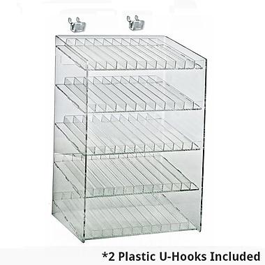 Azar Displays – Présentoir de maquillage comptoir pour panneau perforé suspendu ou à lattes, 5 niveaux 60 compartiments (222885)