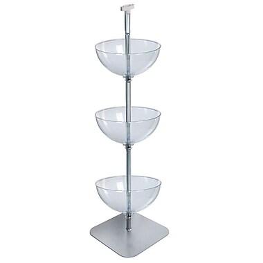 Azar Displays – Présentoir à 3 niveaux de bols 16 po sur pied (751603)