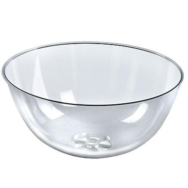 Azar Displays Plastic Bowl, Clear, 16