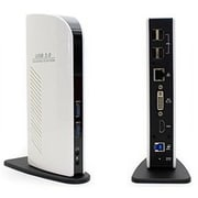 AddOn USB 3.0 (A) to Dual Head White Docking Station