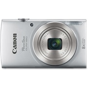 Canon PowerShot ELPH 180 20MP Compact Camera, 8x Optical Zoom, 5 - 40 mm Focal Length, Silver