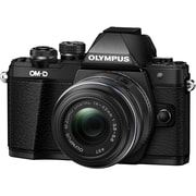 Olympus OM-D E-M10 Mark II 16.1 Megapixel Mirrorless Camera with Lens, 14 mm, 42 mm (Lens 1), 40 mm, 150 mm (Lens 2), Black