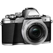 Olympus OM-D E-M10 Mark II 16.1 Megapixel Mirrorless Camera with Lens, 14 mm, 42 mm, Silver