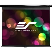 "Elite Screens Manual M142UWH2 Manual Projection Screen, 142"", 16:9, Wall Mount, Ceiling Mount"
