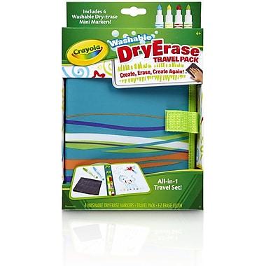Crayola Dry Erase Travel Pack, Blue