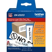 Brother DK2223, White Continuous Length Paper Tape