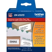 Brother DK2225, Black on White Continuous Length Paper Labels