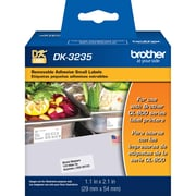 Brother DK3235, Small Removable White Paper Labels