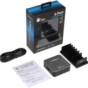 SIIG 5-Port Smart USB Charger plus Organizer Bundle with QC3.0 & Type-C, Black