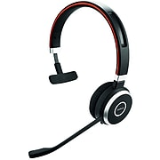Jabra EVOLVE 65+ Mono Bluetooth Headset with Charging Stand MS, (6593-823-399)