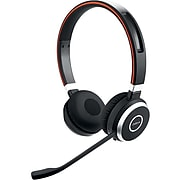 Jabra Evolve 65+ Stereo Bluetooth Headset With Charging Stand MS, (6599-823-399)