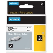 "Dymo® Rhino 18053 0.37"" Heat Shrink Tube Label, Black on White"