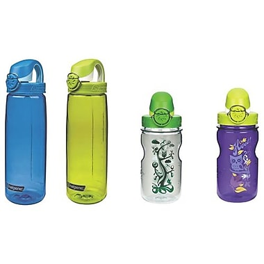 Nalgene On-The-Fly Sports Bottle, Family Pack, 4/Pack