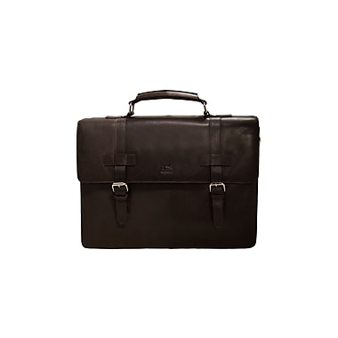 Mancini Colombian Collection Top Grain Leather Double Compartment Briefcases (98234)