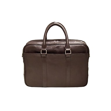 Mancini Colombian Collection Top Grain Leather Double Compartment Briefcases