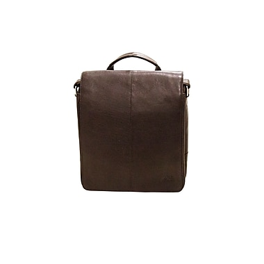 Mancini – Sac messager de la collection Colombian, cuir pleine fleur, brun