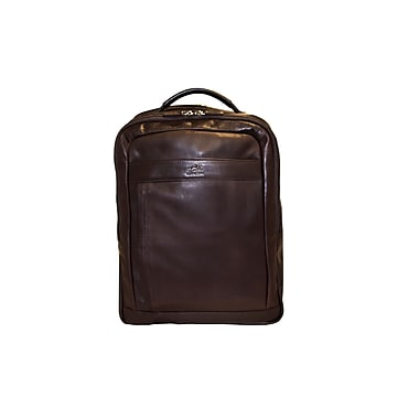 Mancini Colombian Collection Top Grain Leather Laptop/Tablet Backpack, Brown