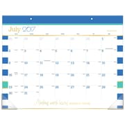 "2017-2018 AT-A-GLANCE® 21 3/4"" x 17"" Color Pop Academic Desk Pad Calendar, 12 Months July Start (D173-704A-18)"