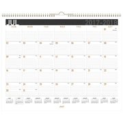 "2017-2018 AT-A-GLANCE® 14 7/8"" x 11 7/8"" EZ Read Academic Monthly Wall Calendar, 12 Months July Start Wirebound (AY8X-28-18)"