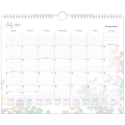 "2017-2018 AT-A-GLANCE® 14-7/8"" x 11-7/8""  Academic Monthly Wall Calendar, Aura Blooms July 2017 - June 2018 (W185-707A-18)"