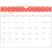 "2017-2018 AT-A-GLANCE® 14-7/8"" x 11-7/8"" Academic Monthly Wall Calendar, Color Pop July 2017 - June 2018 (W173-707A-18)"