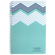 "2017-2018 AT-A-GLANCE® 4 7/8"" x 8"" Weekly/Monthly Teacher Planner, 12 Months July Start Mint (TP200A-38-18)"
