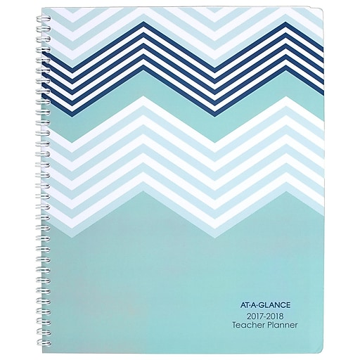 2017 2018 at a glance 8 1 2 x 11 weekly monthly teacher planner
