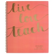 "2017-2018 AT-A-GLANCE® 8 1/2"" x 11"" Weekly/Monthly Teacher Planner, 12 Months July Start Coral (TP905A-27-18)"