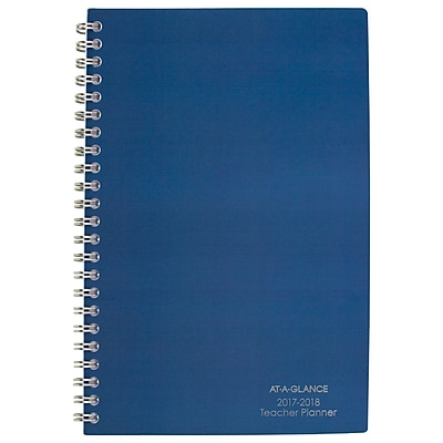 At-A-Glance Weekly Monthly Teacher Planner, Navy Blue